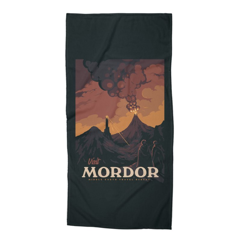 Visit Mordor Accessories Beach Towel by mathiole