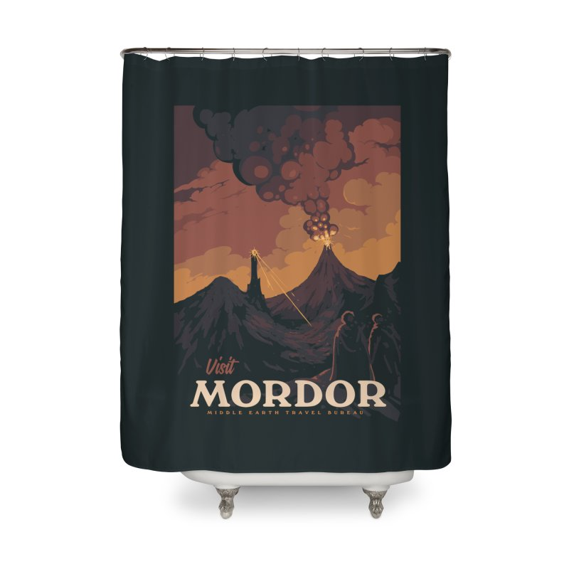 Visit Mordor Home Shower Curtain by mathiole