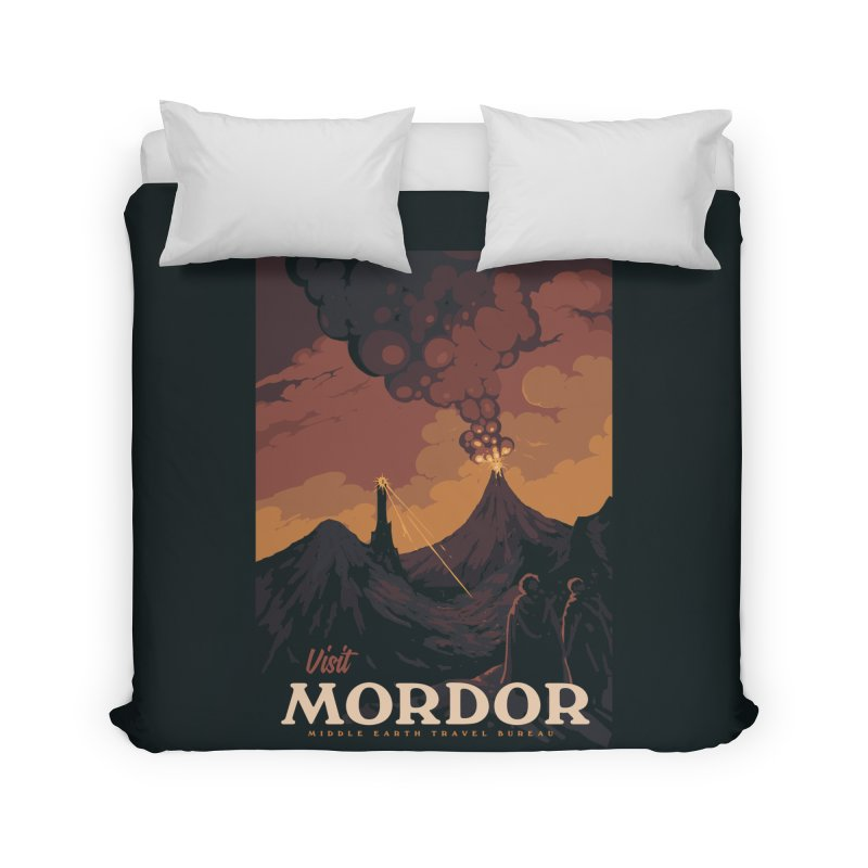 Visit Mordor Home Duvet by mathiole