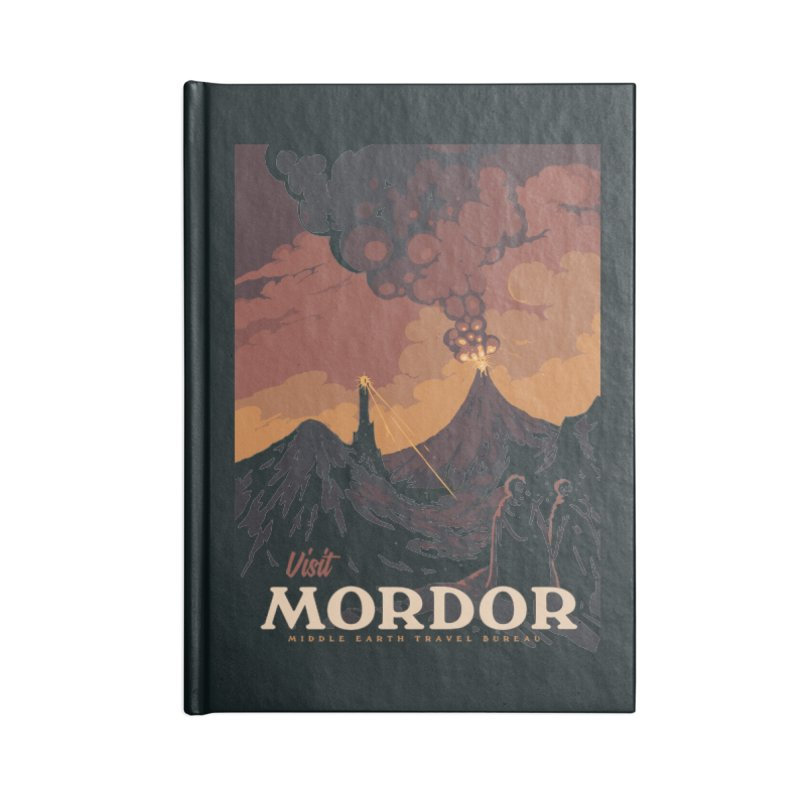 Visit Mordor Accessories Lined Journal Notebook by mathiole