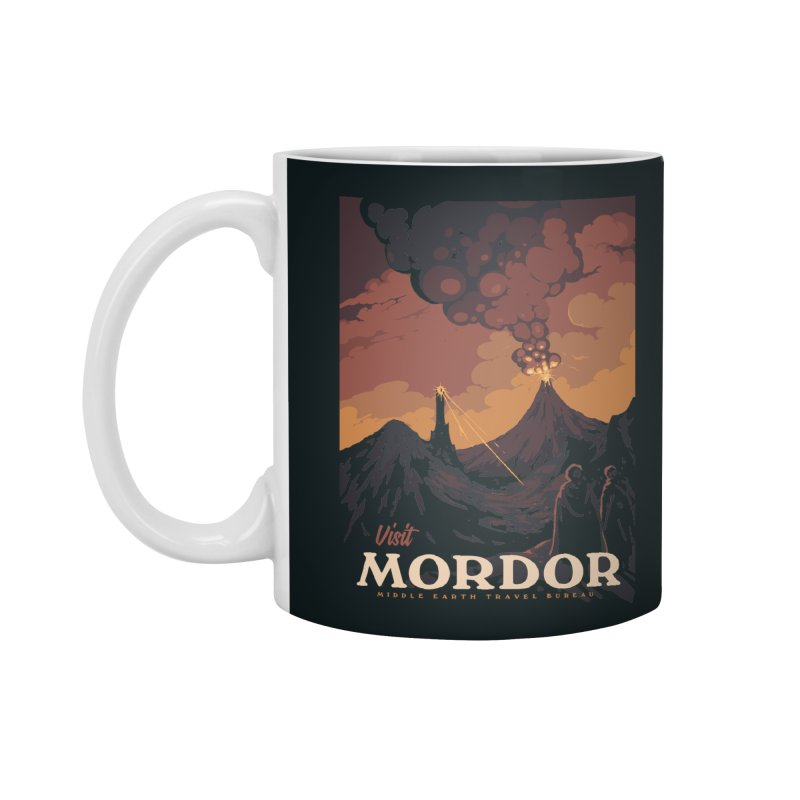 Visit Mordor Accessories Standard Mug by mathiole