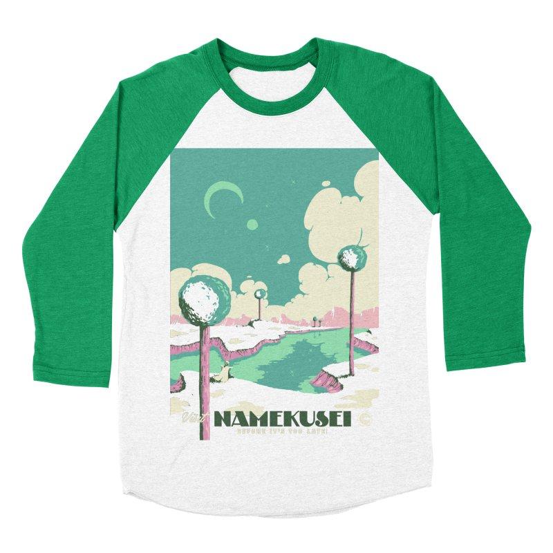 Visit Namekusei Men's Baseball Triblend T-Shirt by mathiole