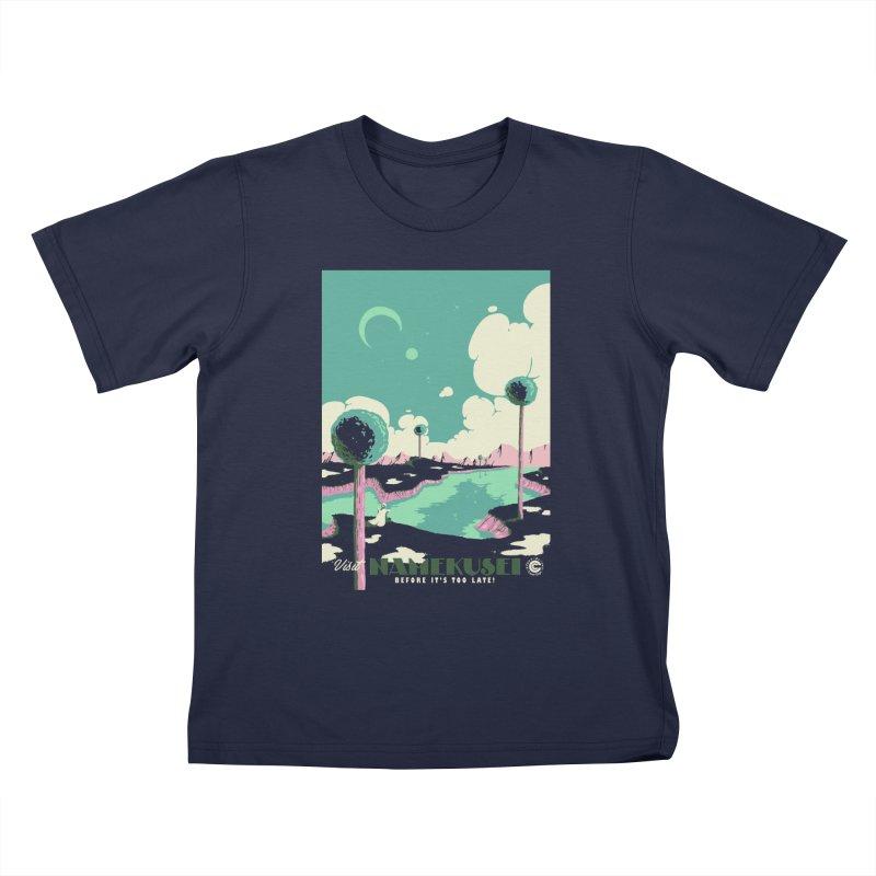 Visit Namekusei Kids T-Shirt by mathiole