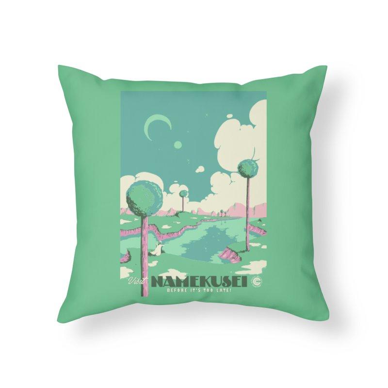 Visit Namekusei Home Throw Pillow by mathiole