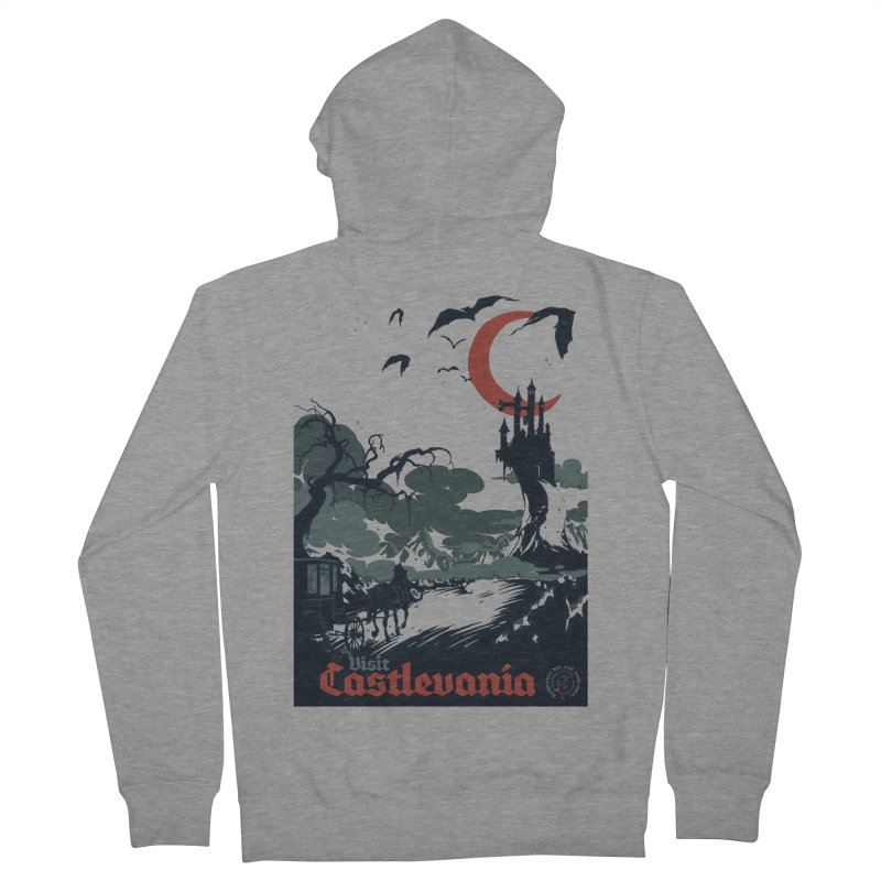 Visit Castlevania Men's Zip-Up Hoody by mathiole