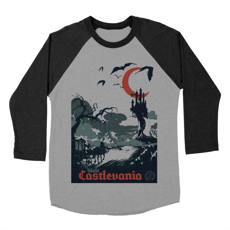 Visit Castlevania Men's Baseball Triblend T-Shirt by mathiole