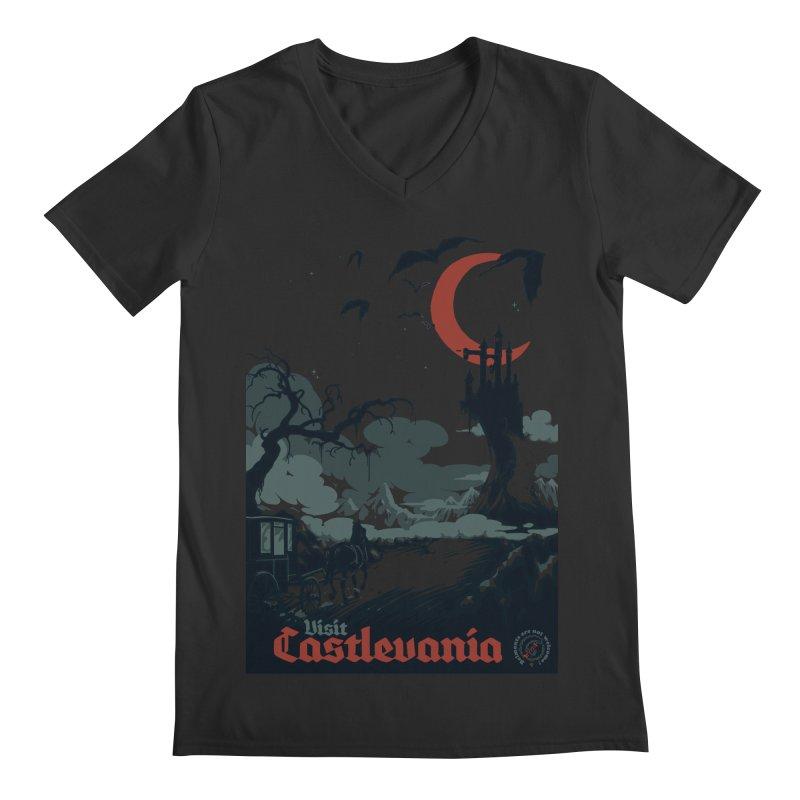 Visit Castlevania Men's V-Neck by mathiole