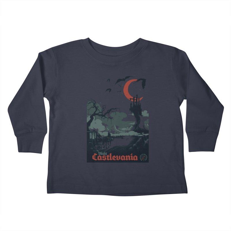 Visit Castlevania Kids Toddler Longsleeve T-Shirt by mathiole