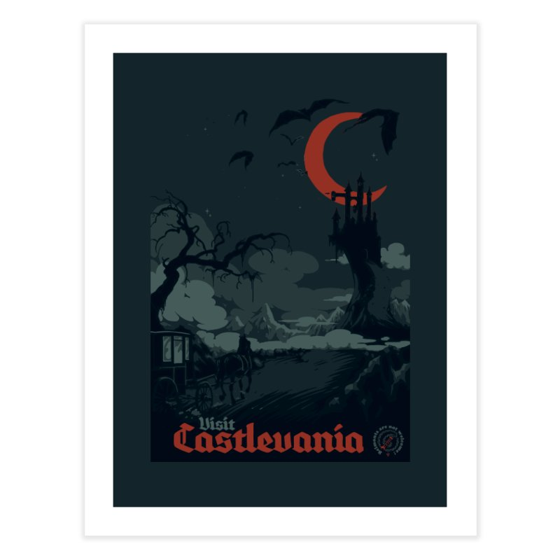 Visit Castlevania Home Fine Art Print by mathiole