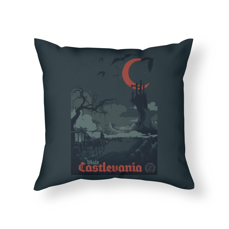 Visit Castlevania Home Throw Pillow by mathiole