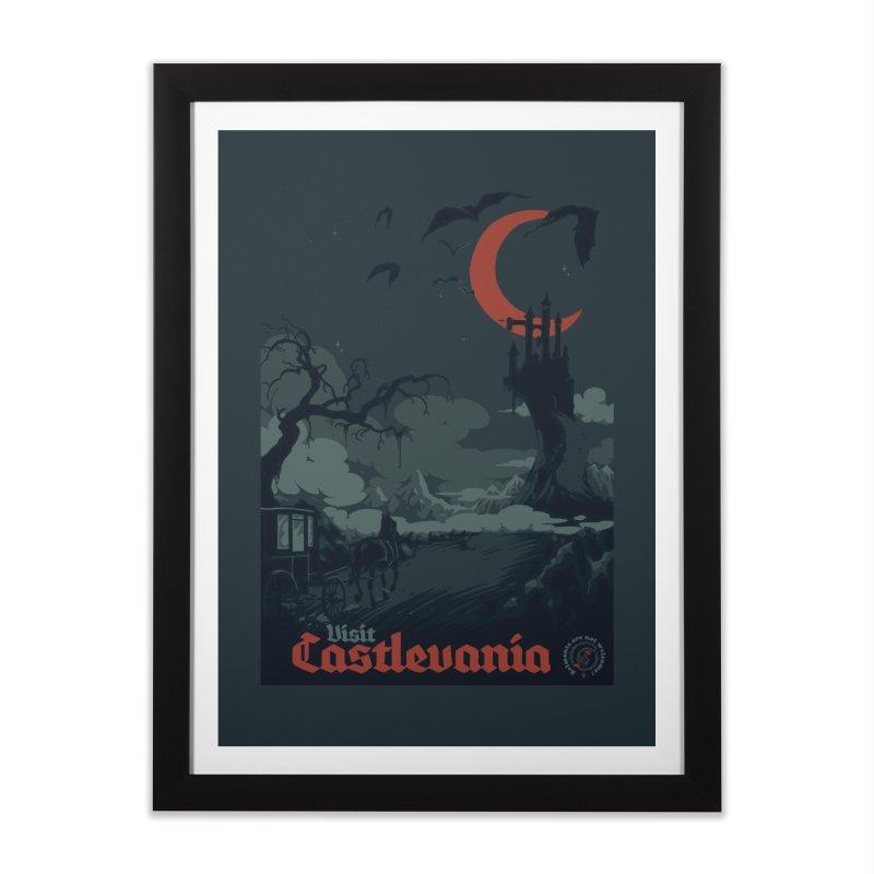 Visit Castlevania Home Framed Fine Art Print by mathiole