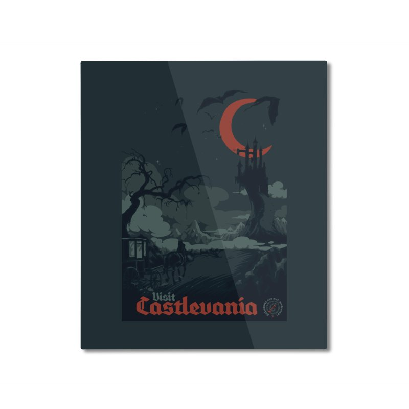 Visit Castlevania Home Mounted Aluminum Print by mathiole