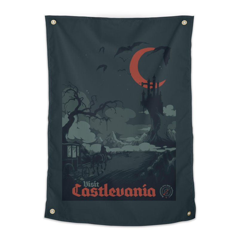 Visit Castlevania Home Tapestry by mathiole