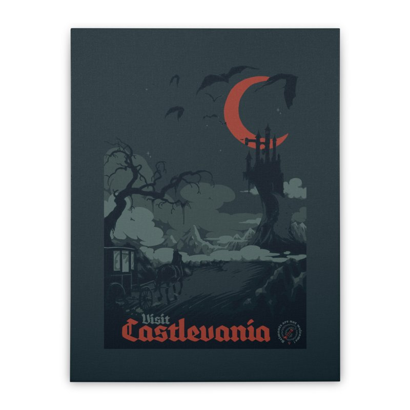 Visit Castlevania Home Stretched Canvas by mathiole