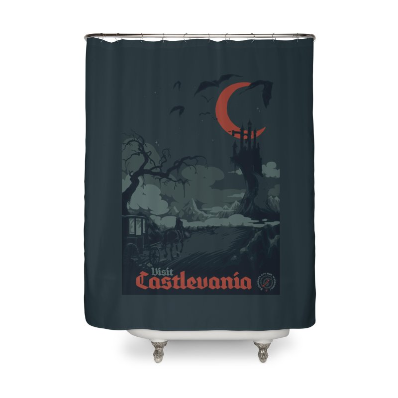 Visit Castlevania Home Shower Curtain by mathiole