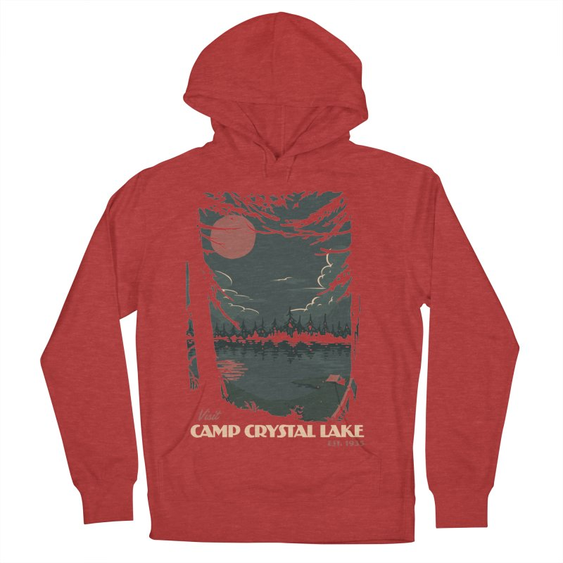 Visit Camp Crystal Lake Women's Pullover Hoody by mathiole