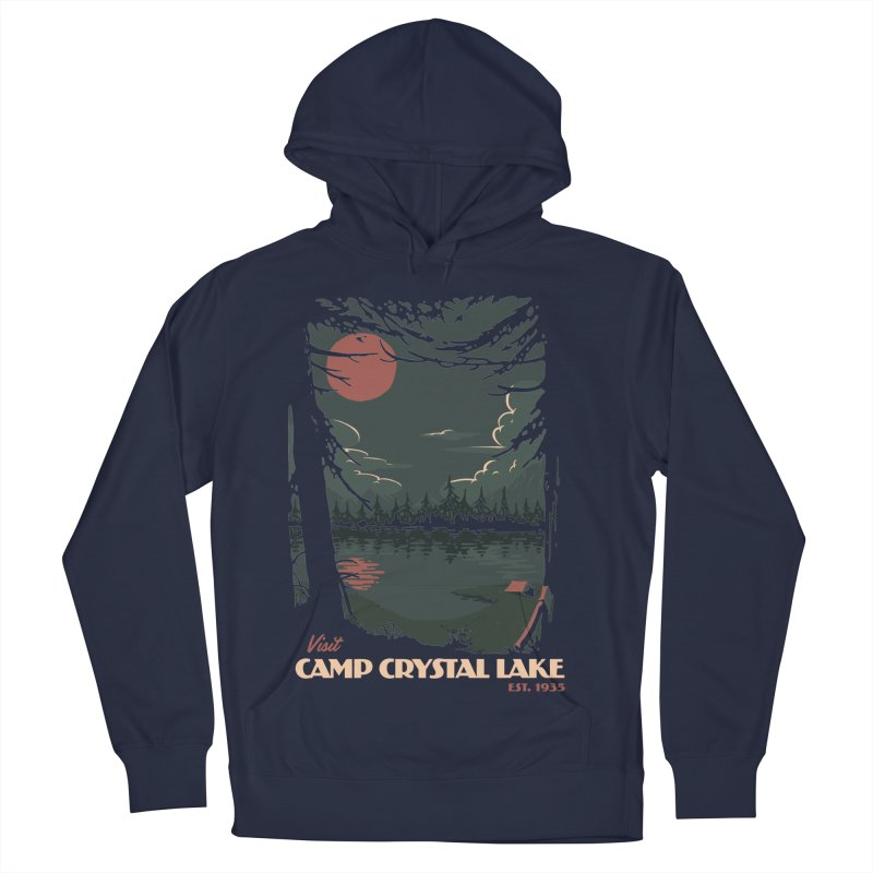 Visit Camp Crystal Lake Women's French Terry Pullover Hoody by mathiole