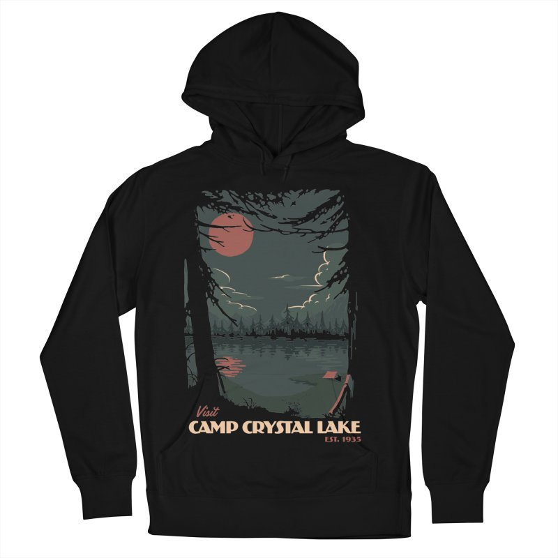 Visit Camp Crystal Lake Men's Pullover Hoody by mathiole
