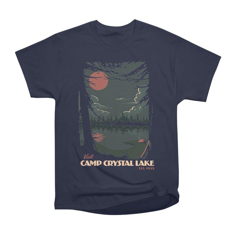 Visit Camp Crystal Lake Men's Heavyweight T-Shirt by mathiole