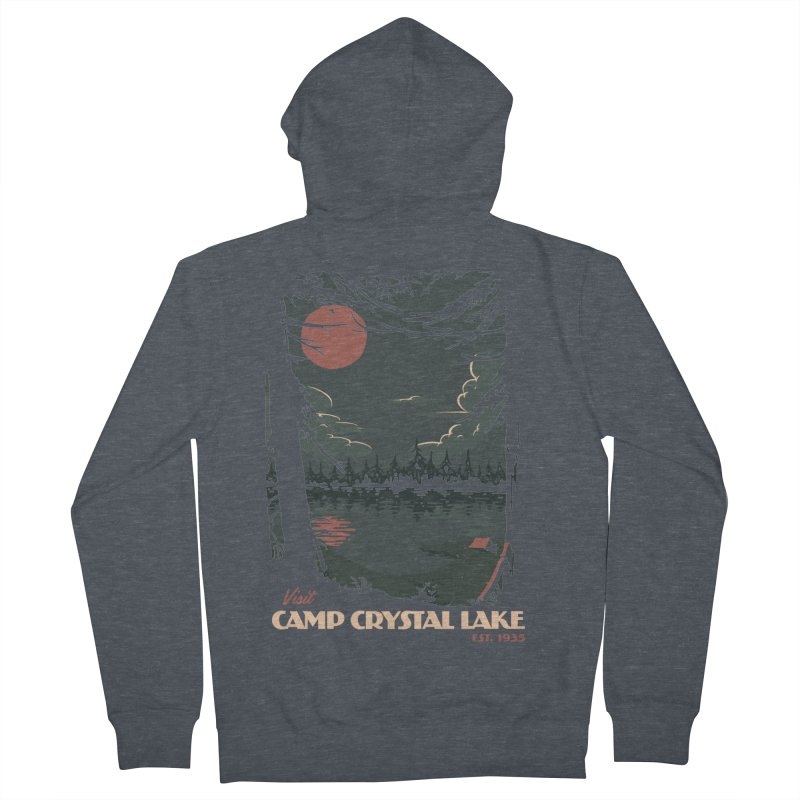 Visit Camp Crystal Lake Women's French Terry Zip-Up Hoody by mathiole