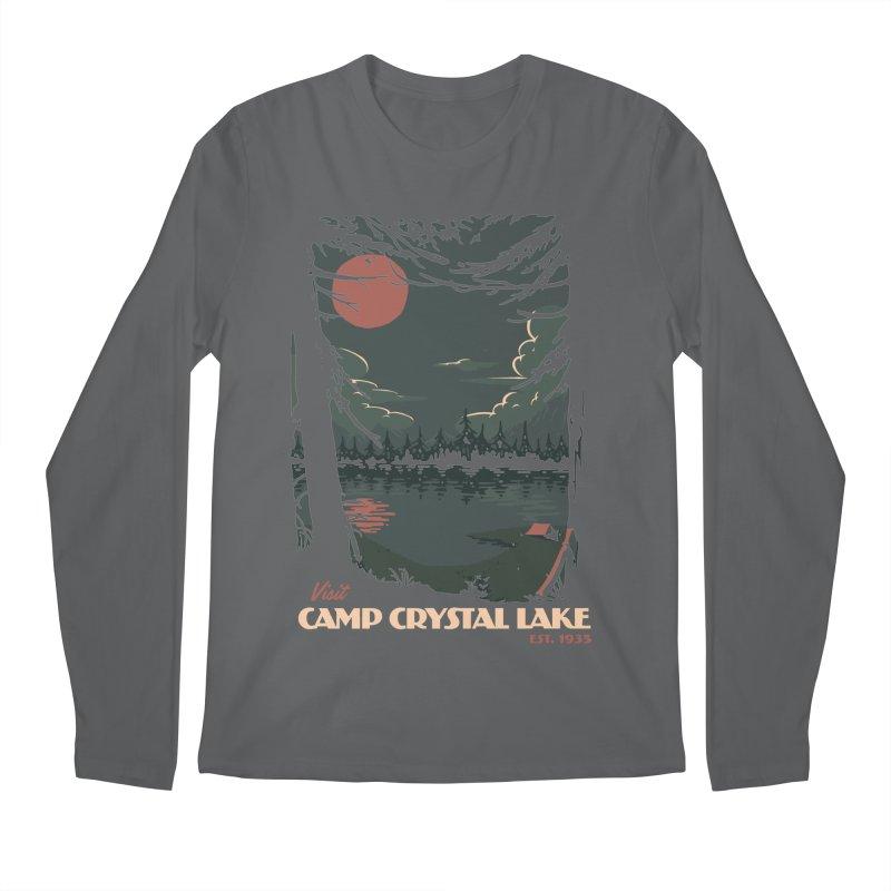 Visit Camp Crystal Lake Men's Longsleeve T-Shirt by mathiole