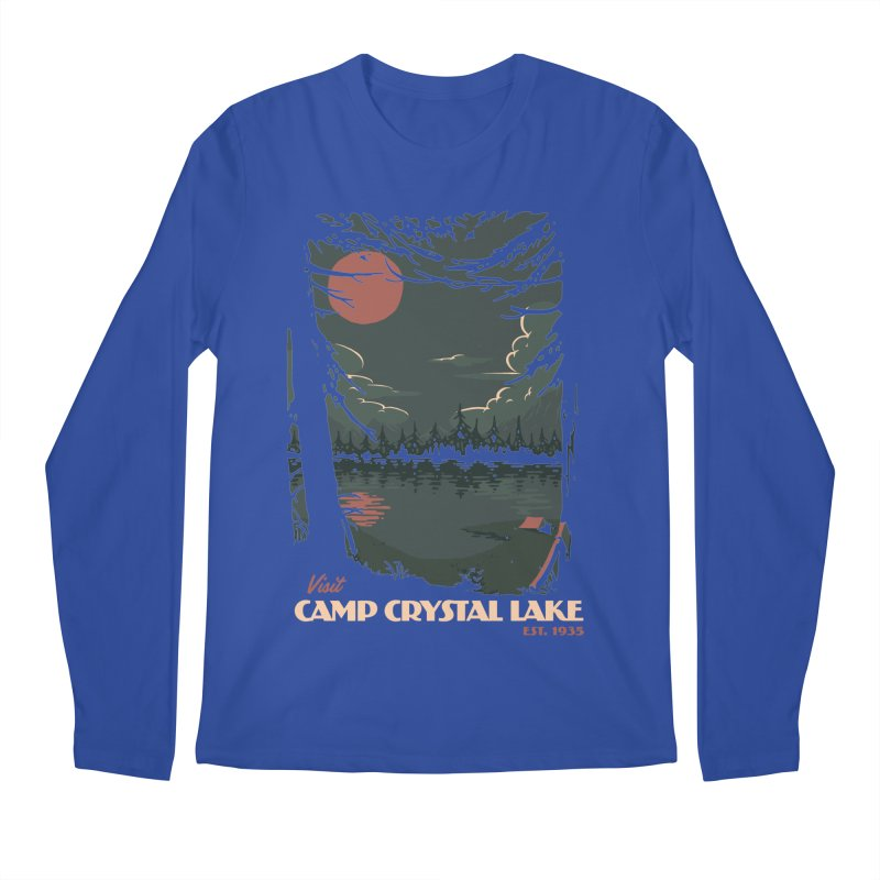 Visit Camp Crystal Lake Men's Regular Longsleeve T-Shirt by mathiole
