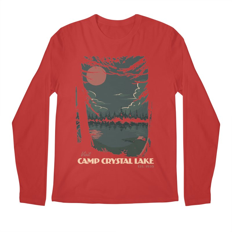 Visit Camp Crystal Lake Men's Regular Longsleeve T-Shirt by mathiole