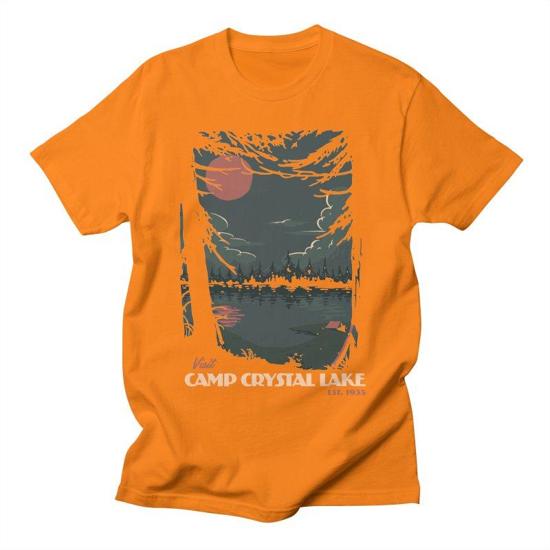 Visit Camp Crystal Lake Men's T-Shirt by mathiole