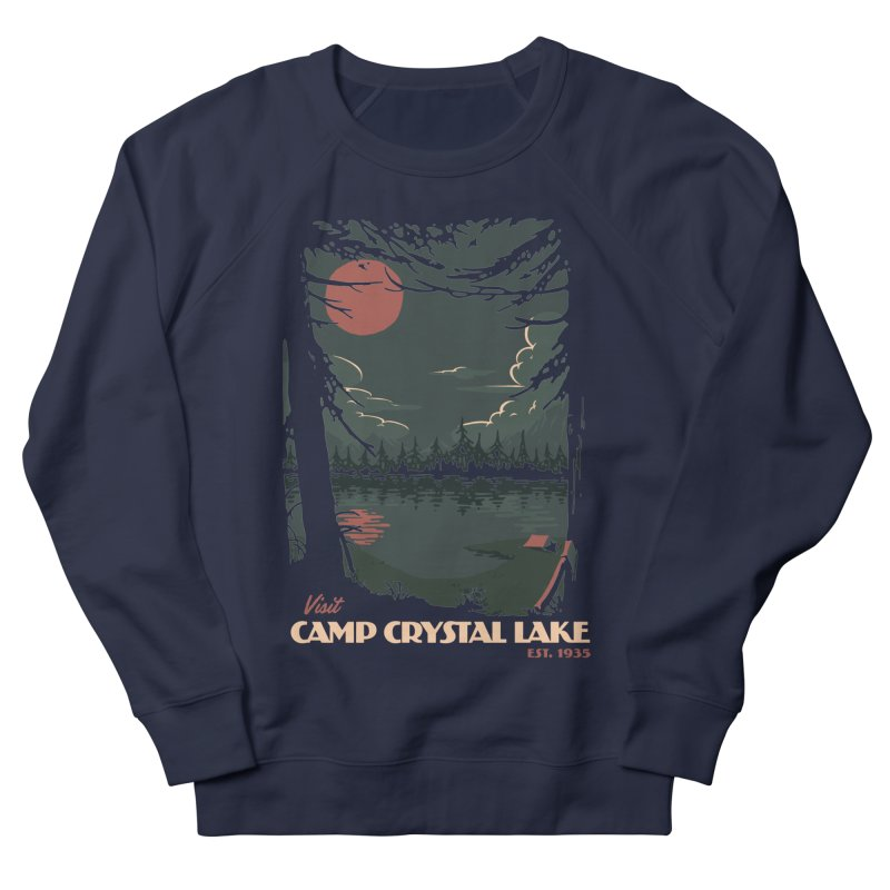 Visit Camp Crystal Lake Women's French Terry Sweatshirt by mathiole