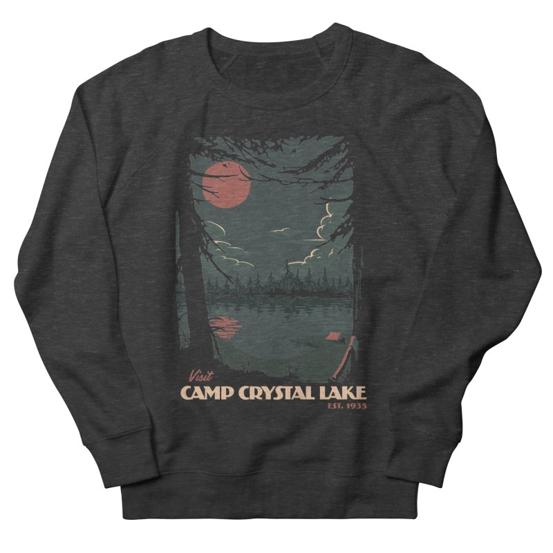 Visit Camp Crystal Lake Men's French Terry Sweatshirt by mathiole