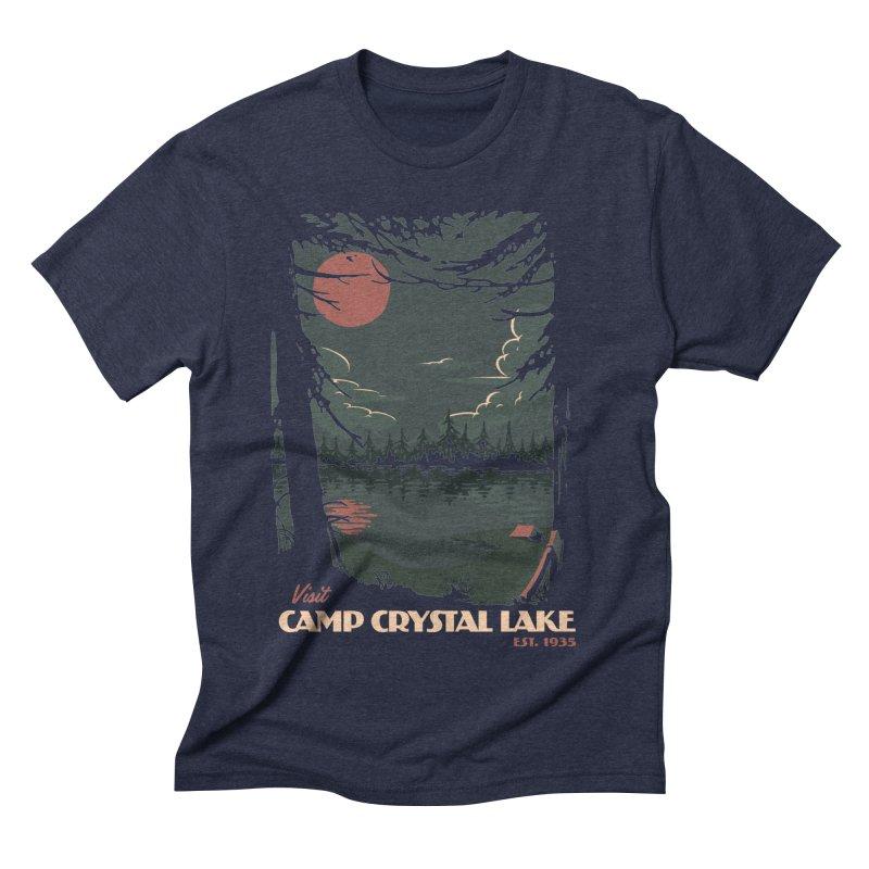 Visit Camp Crystal Lake Men's Triblend T-Shirt by mathiole