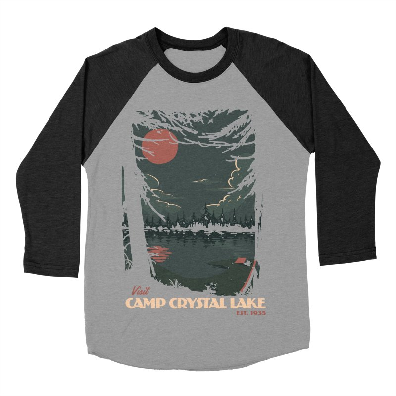 Visit Camp Crystal Lake Women's Baseball Triblend Longsleeve T-Shirt by mathiole
