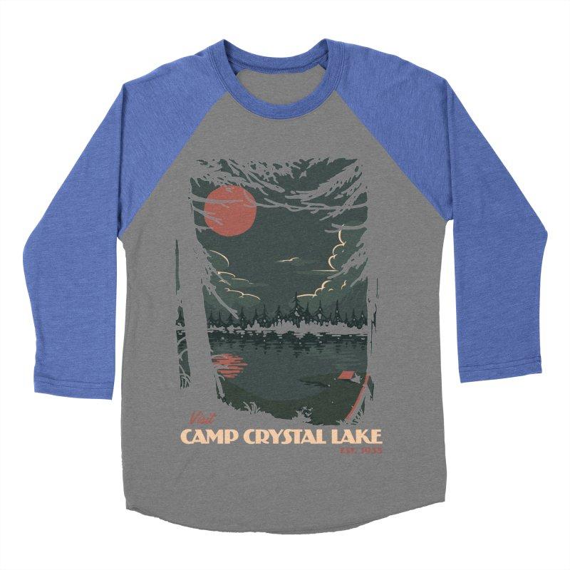 Visit Camp Crystal Lake Men's Baseball Triblend Longsleeve T-Shirt by mathiole