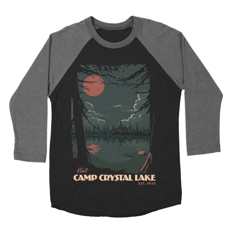 Visit Camp Crystal Lake Men's Baseball Triblend Longsleeve T-Shirt by mathiole