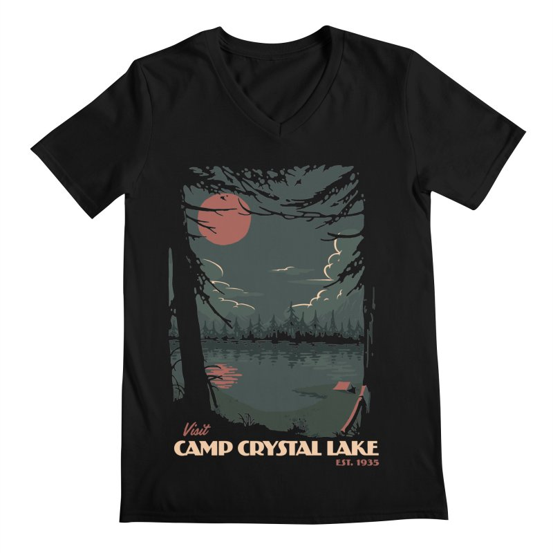 Visit Camp Crystal Lake Men's V-Neck by mathiole