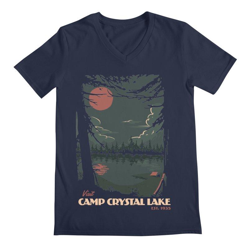 Visit Camp Crystal Lake Men's V-Neck by mathiole