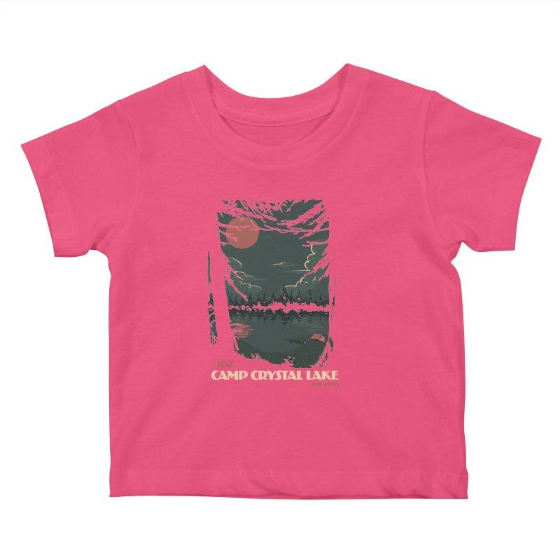 Visit Camp Crystal Lake Kids Baby T-Shirt by mathiole