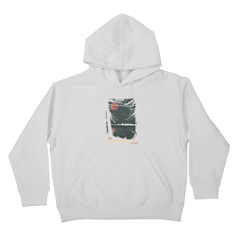 Visit Camp Crystal Lake Kids Pullover Hoody by mathiole