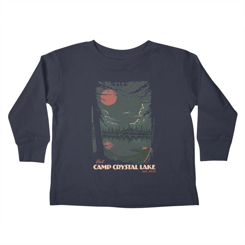 Visit Camp Crystal Lake Kids Toddler Longsleeve T-Shirt by mathiole