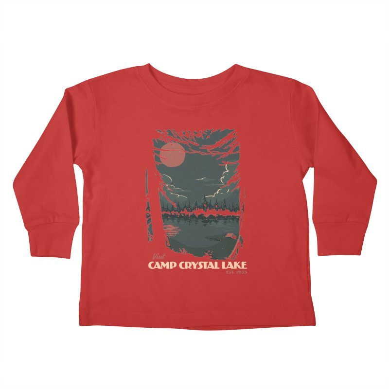 Visit Camp Crystal Lake Kids Toddler Longsleeve T-Shirt by mathiole