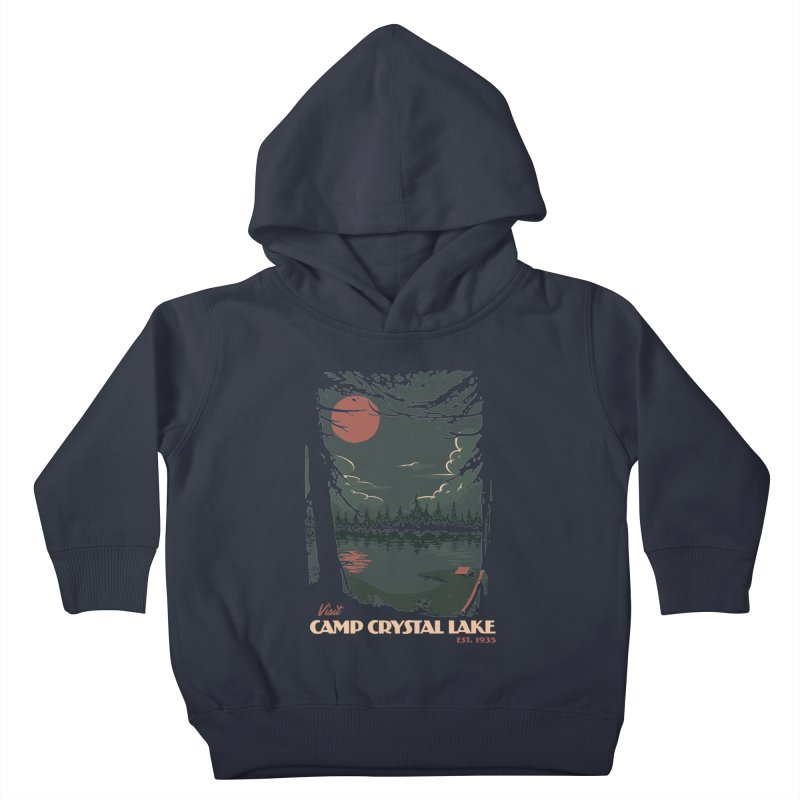 Visit Camp Crystal Lake Kids Toddler Pullover Hoody by mathiole