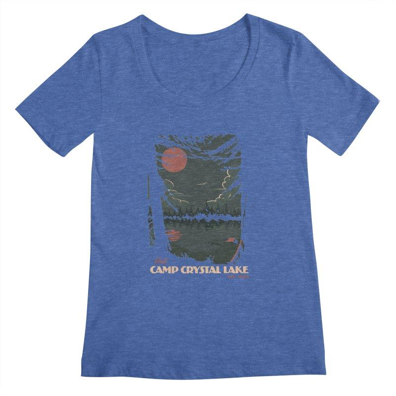 Visit Camp Crystal Lake Women's Regular Scoop Neck by mathiole