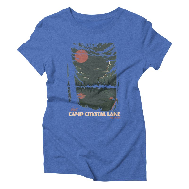 Visit Camp Crystal Lake Women's Triblend T-Shirt by mathiole
