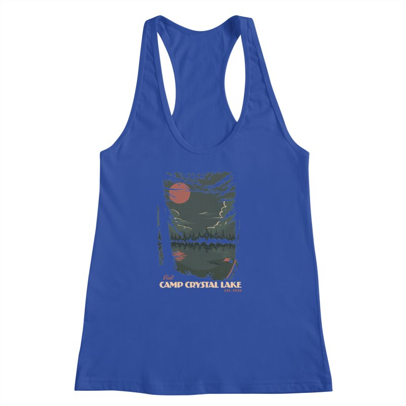 Visit Camp Crystal Lake Women's Racerback Tank by mathiole