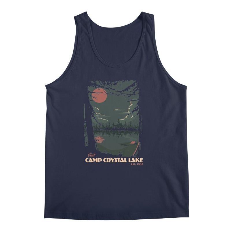 Visit Camp Crystal Lake Men's Regular Tank by mathiole