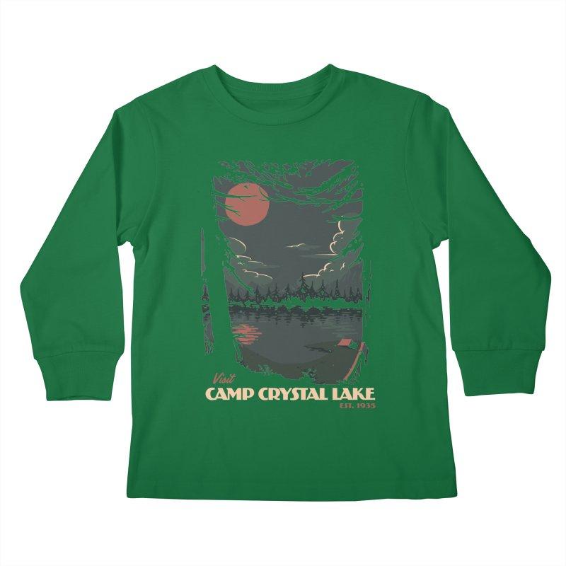 Visit Camp Crystal Lake Kids Longsleeve T-Shirt by mathiole