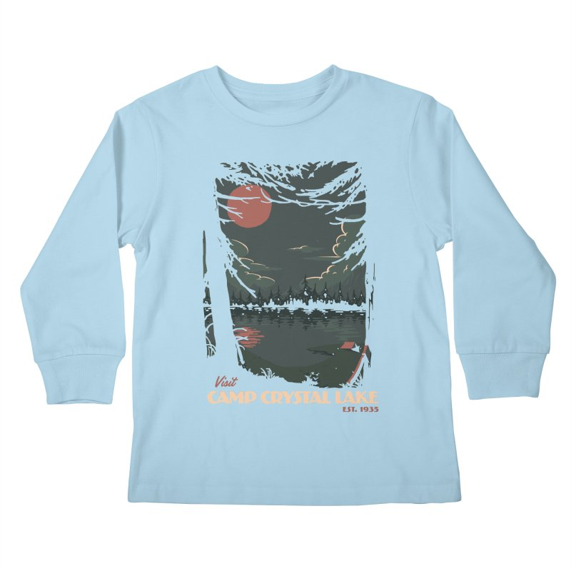 Visit Camp Crystal Lake Kids Longsleeve T-Shirt by mathiole