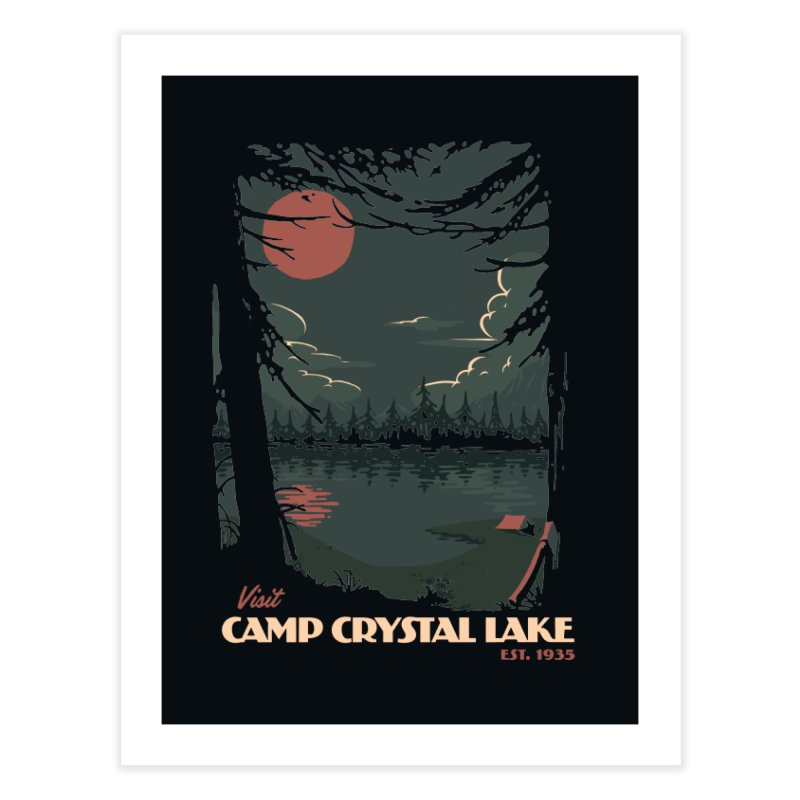 Visit Camp Crystal Lake Home Fine Art Print by mathiole