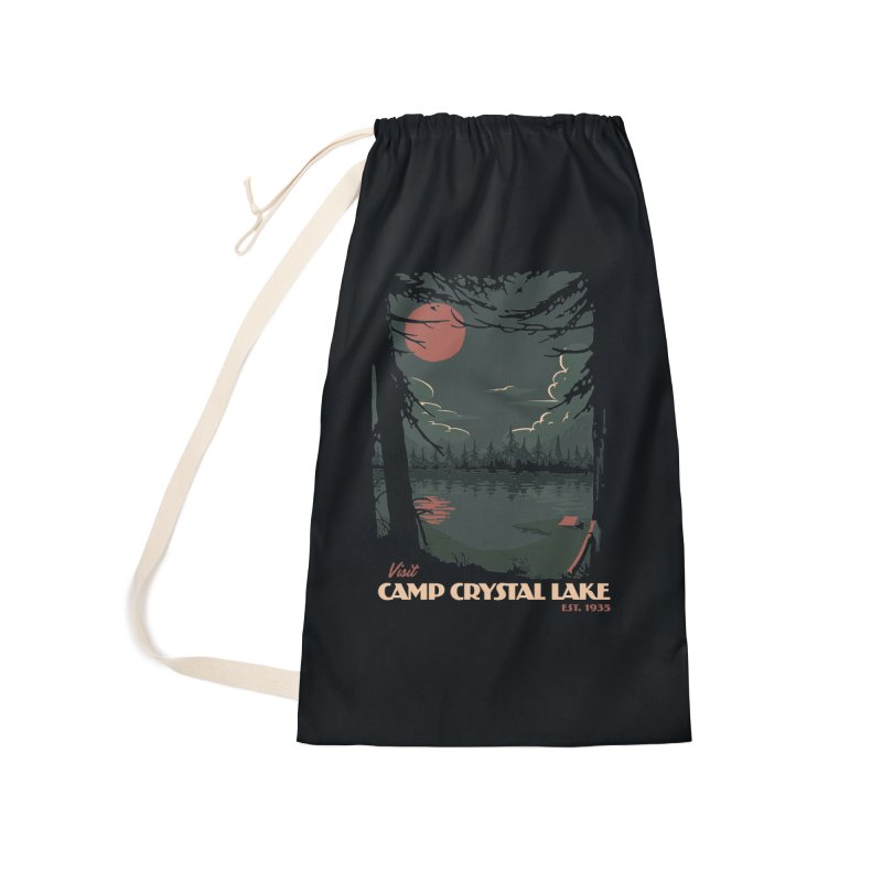 Visit Camp Crystal Lake Accessories Laundry Bag Bag by mathiole