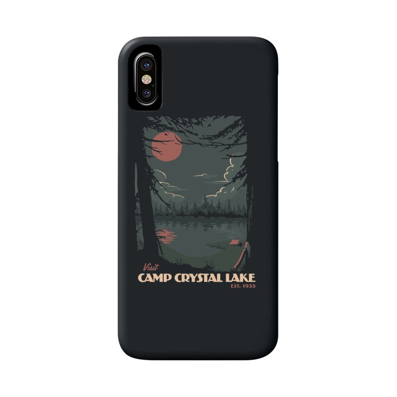 Visit Camp Crystal Lake Accessories Phone Case by mathiole